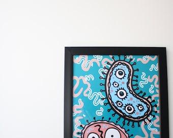 Illustration Print Large A3/ Mini Print A6 size available