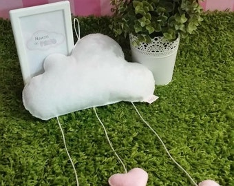 Baby Mobile - Cloud with hearts