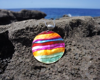 Horizontal Colorful Wave Necklace