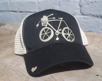 Bike Hat-Black/Gold