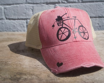 Bike Hat-Black/Pink