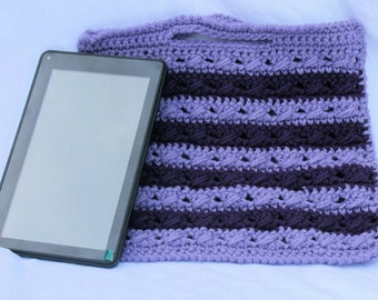 Tablet case, crochet tablet case, tablet cover, tablet accessory, kindle case, Ipad case, purple tablet case, Christmas gift, handmade case