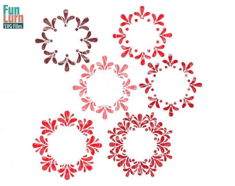 Petal Circle Monogram Flower Monogram Svg Cut File Cutting