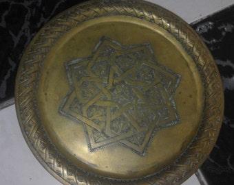 antique brass tray