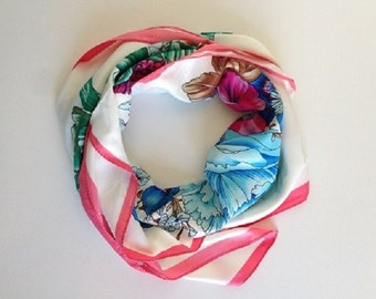 Romantic scarf of flowers that fly
