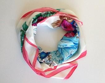 Foulard of silk, flowers fantasy