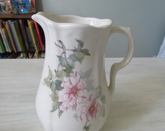 CLEARANCE  Empress Staffordshire English Ironstone Pastel Wild Rose Pattern Pitcher Jug Vase Decorative Piece - 203