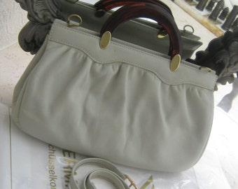 Vintage Handbag,shoulder bag pure calf leather ca 1972