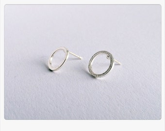 Circle earrings silver, Circle of Life, Dot, minimalsim, minimal chic, filigree jewelry, circle earrings