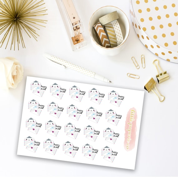 Happy Mail Planner Stickers, Mail Stickers for Planning, Planner Stickers, Happy Mail Stickers, Planner Decor, Decorating Stickers
