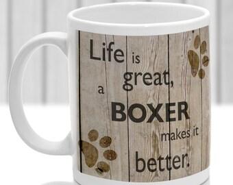 Boxer dog mug, Boxer dog gift, ideal present for dog lover