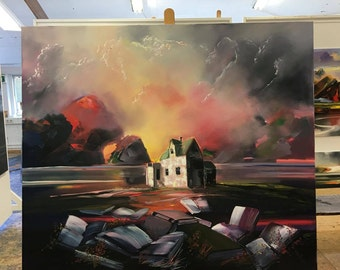 Söguland (Storyland) - Original painting by Tolli Morthens