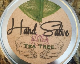 Tea Tree Hand Salve made with hemp, jojoba and avocado oil