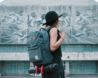 SALE! Gray Backpack, City Backpack, School Backpack, Unisex Backpack, Cotton, Casual, Hipster, College, WRBL Backpack, Gifts For Girlfriend