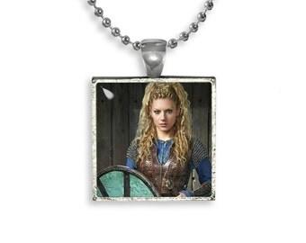 Vikings Largertha Fandom Jewelry Necklace Pendant Shield Maiden Viking Warrior Fangirl Fanboy