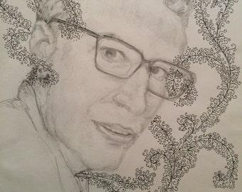 Greg - graphite and pen portrait