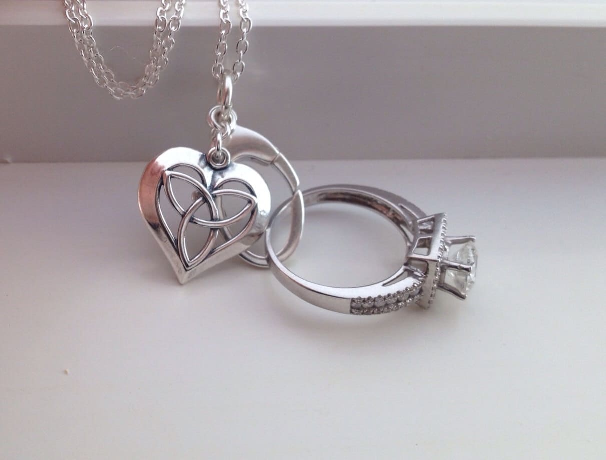 Celtic Love Heart Ring Holder Wedding Engagement Bridal