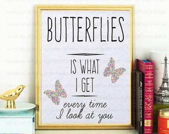 Butterflies feeling