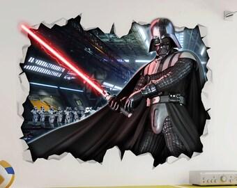Darth Vader Empire Star Wars Wall Vinyl Poster Sticker - Bedroom Gameroom Mural