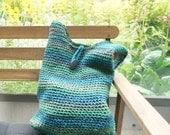green tote bag | knitted wool bag | bohemian bag | beach bag | market bag | crochet bag | shoulder bag | handmade tote bag | ready to ship