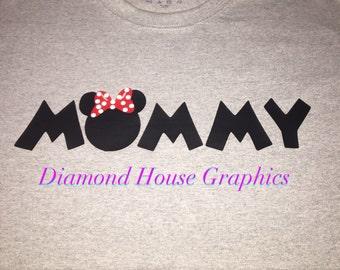 Mommy Minnie shirt. Daddy Mickey shirt. Auntie Minnie shirt.