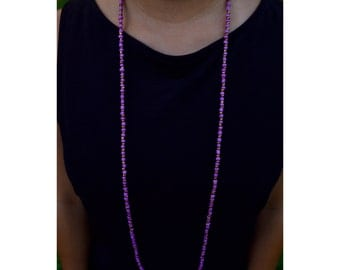 Double Wrap Fucshia Necklace