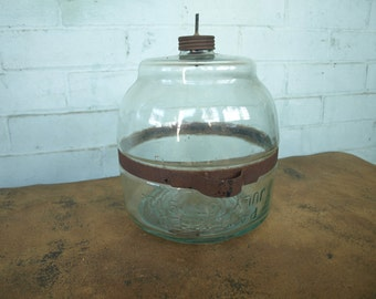 Glass Kerosene Bottle Jug for Cooking Stove Dated July 1st,1913