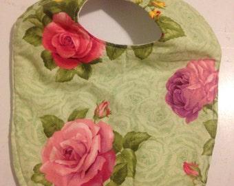 Green Rose Bib