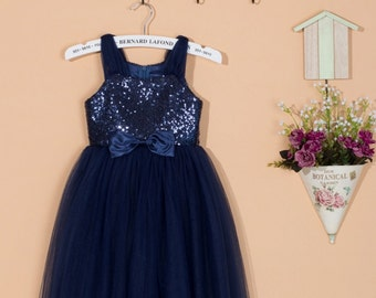 navy flower girl dress – Etsy