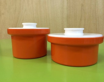 Vintage Retro Mid Century Decor  Canisters x 2 - Made in Australia