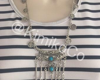 Boho chic bohemian gypsy necklace