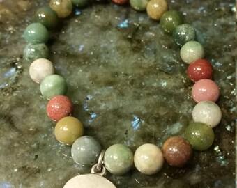 Green bead braclet