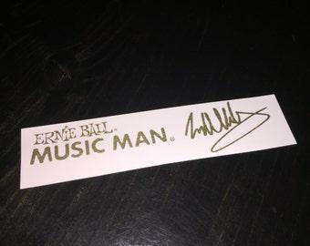 Ernie Ball Musicman EVH Guitar waterslide Headstock decal Gold foil