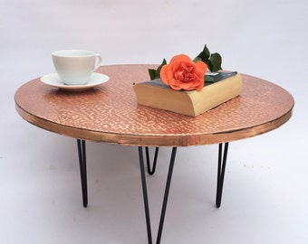 Vintage Old Copper Coffee Table