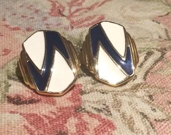 Vintage Zig Zag Statement Earrings