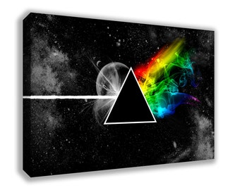 PINK FLOYD THE Dark Side Of The Moon Stylised Canvas Wall Art