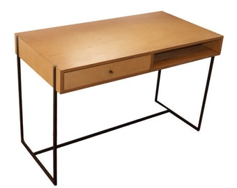 Modern desk/ birch plywood/ steel frame/ industrial