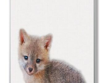 Fox Print, Woodlands Animal Wall Art,Baby Animal Print,Little Fox Wall Decorl, Nursery Woodlands Fox,Baby Animal Decor,Nursery Fox Print