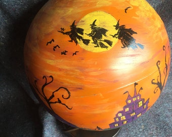 Halloween world globe  repurposed