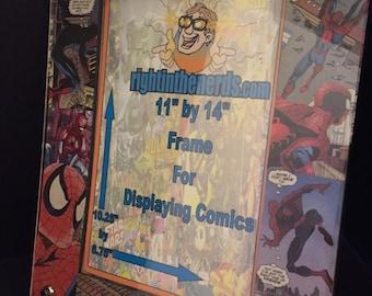 11x14 Spider man comic display frame