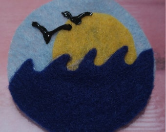 Sunset by the Sea Brooch
