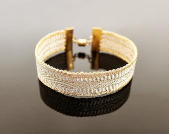 Golden and silver bracelet