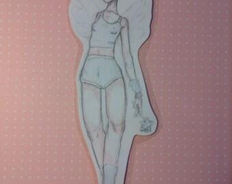 Laminated Pencil Sketch