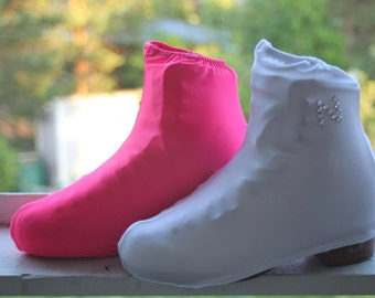 Figure skate boot covers with own letter