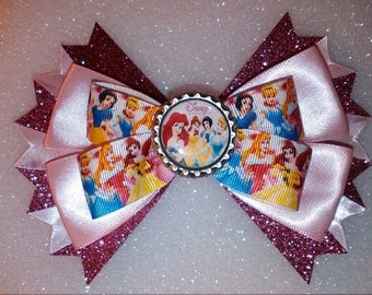 Princess hair bow