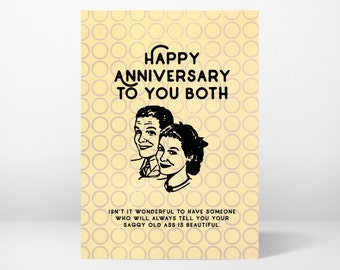 anniversary card, greeting card, funny, whimsical, printable, 5x7, instant download, digital