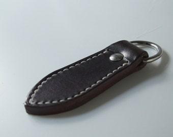 Stylish Leather keychain /  keyfob / kubaton self defense weapon
