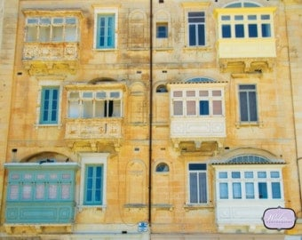 Rustic beauty, building facade, Malta, island on the Mediterranean sea