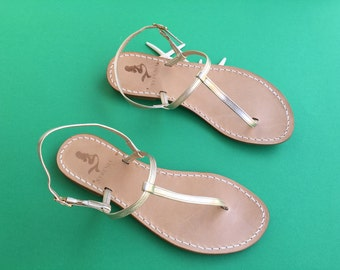 Capri Style | 100% leather thong Sandals artisanal Handmade in Italy