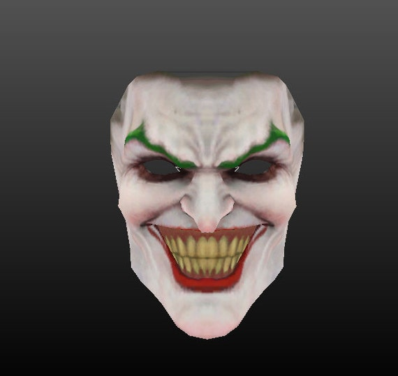 Joker mask make your own using this simple pdf by for Joker mask template